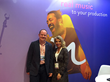 Phil Bird, Head of Sales, Vistex (UK) with Juliette Squair, Chief Strategy Officer at Audio Network