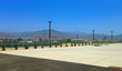 San Bernardino Airport fence before Acoustifence installation