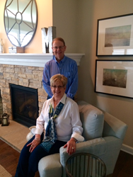 Cathy and Larry Macari in their new home at Meadowridge Villas in Sugar Grove.