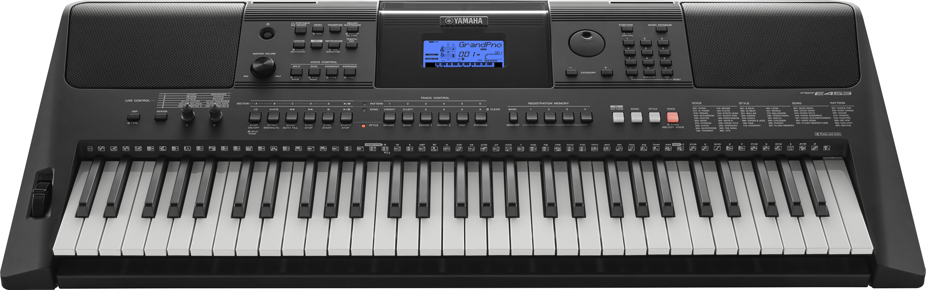 yamaha psr e453 and psr ew400 portable keyboards boast. Black Bedroom Furniture Sets. Home Design Ideas