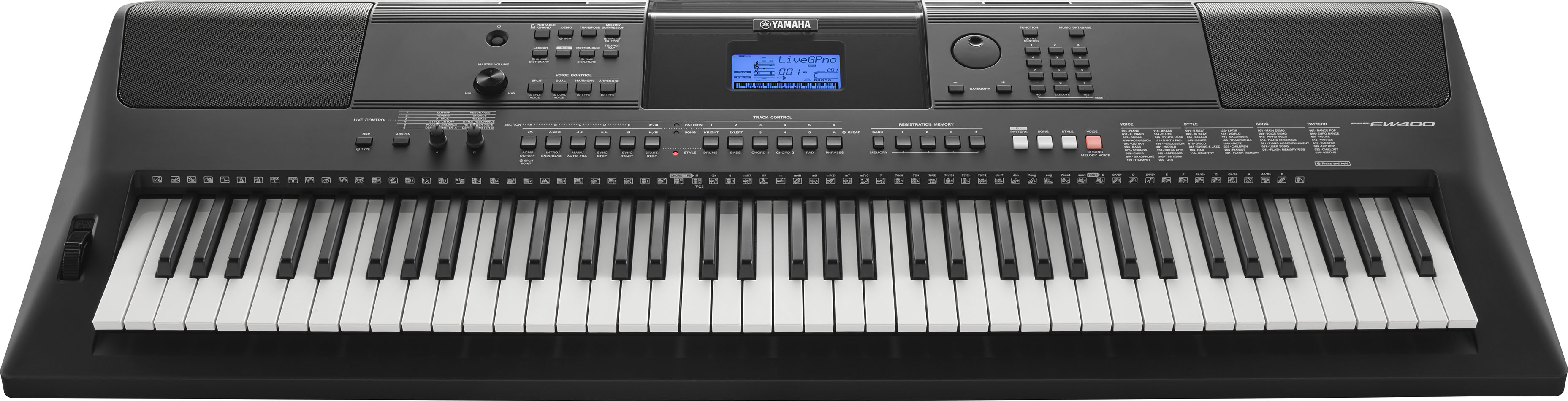 Yamaha psr e453 and psr ew400 portable keyboards boast for Yamaha psr ew