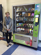Anne Roberts with Healthy Vending Machine