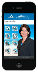 Laura Hazlett's Customized SavvyCard for Agents Pro™ Mobile Web Application.
