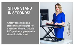 Standing desk work station available on Amazon or Standsteady.com for sale