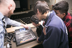Lexington Christian Academy audio engineering class