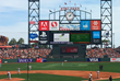 JumboTron at SF Giants Stadium Displaying New Ground Technology Design