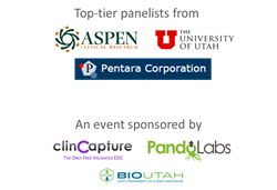 BioTalks Utah Sponsors and Panelists