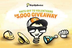 SignUpGenius, volunteer management, contest, giveaway, promotion, volunteers, nonprofits