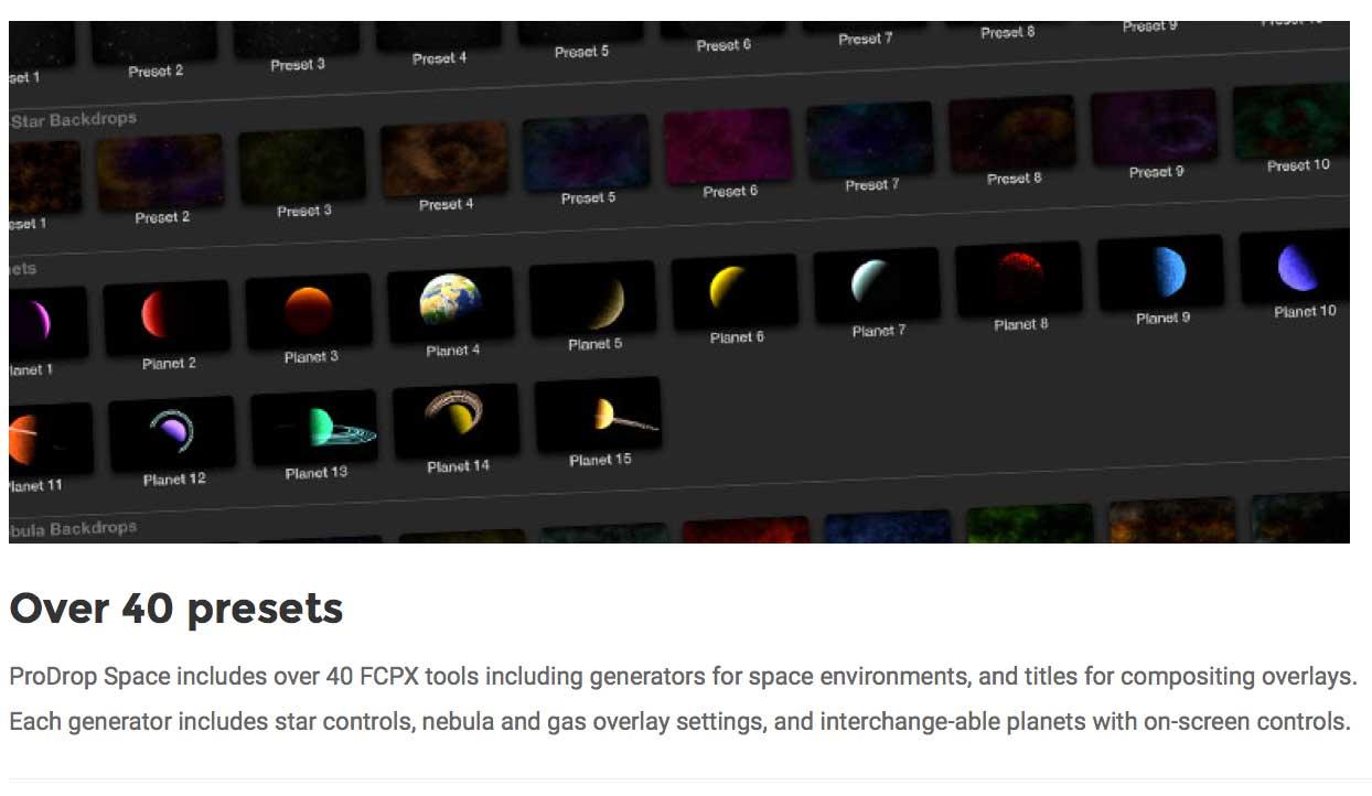 Prodrop Space Released For Final Cut Pro X By Pixel Film