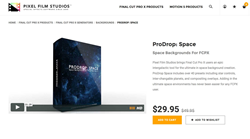 ProDrop Space - Apple FCPX - Pixel Film Plugins