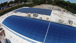 Andretti's solar photovoltaic array installed by Renewvia Energy