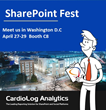 CardioLog Analytics to attend SharePoint Fest in Washington D.C