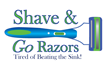 Shave & Go Razors is a grooming invention that keeps blades from becoming dull.