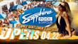 Party with Adult Stars Jayden Jaymes, Kenna James and Abby Lee Brazil as they Host Sapphire Pool & Day Club Opening Weekend Events, April 22, 23 and 24, 2016