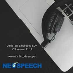 NeoSpeech's Embedded SDK Now Supports Bitcode