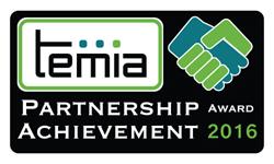 TEMIA Partnership Achievement Award 2016