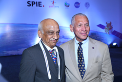 Kiran Kumar of ISRO and Charles Bolden of NASA were among space agency leaders participating in discussions at SPIE Asia-Pacific Remote Sensing 2016 in New Delhi.