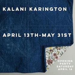 Kalani Karington's five-yen quilt exhibit and opening party.