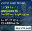 ComplianceOnline Announces Seminar on 21 CFR Part 11 Compliance for SaaS/Cloud Applications