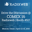 Radixweb to Spotlight Mobility, App Modernization, MS Dynamics CRM at COMEX Oman 2016