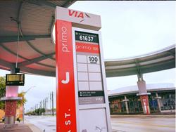 Image of VIA Metropolitan bus stop