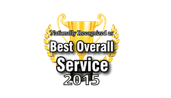 Champion Cleaners best in Overall Service 2014 and 2015