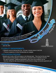 Linhart Dentistry Scholarship Flyer