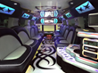 Photo of H2 hummer super stretch limousine - interior.  Available in New York, Queens, Manhattan, Westchester, Yonkers