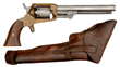 Extremely Rare Confederate Cofer Third Type Revolver in its Original Holster Captured by 11th Maine Captain S.H. Merrill - estimate $250,000/350,000