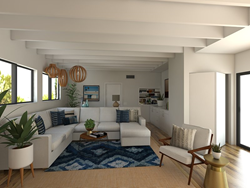 3D Rendering of Actress Jamie Chung's Living Room