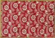 Havana Red Floral hand hooked rug