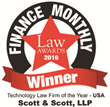 Scott & Scott, LLP Voted Technology Law Firm of the Year - USA
