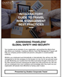 6-Step Guide to Best Practices in Travel Risk Management Provides Overview to Create and Enhance a Corporate Risk Management Plan