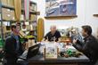 L-R Donnie Sandusky and Pete Hamborg of Hamboards meet with Shark Tank's Robert Herjavec.