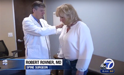 Bay Area spine surgeon Robert Rovner,MD and patient Kim on KGO 7 News