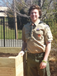 Eagle Scout Builds Planting Beds for VNA Adult Day Club