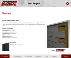 IMETCO's new metal rainscreen builder app provides architectural specifications and renderings.