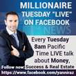 "LIVE Facebook Broadcast ""Millionaire Tuesday"" Adding Weekly Entrepreneur Interviews to Broadcast Schedule"