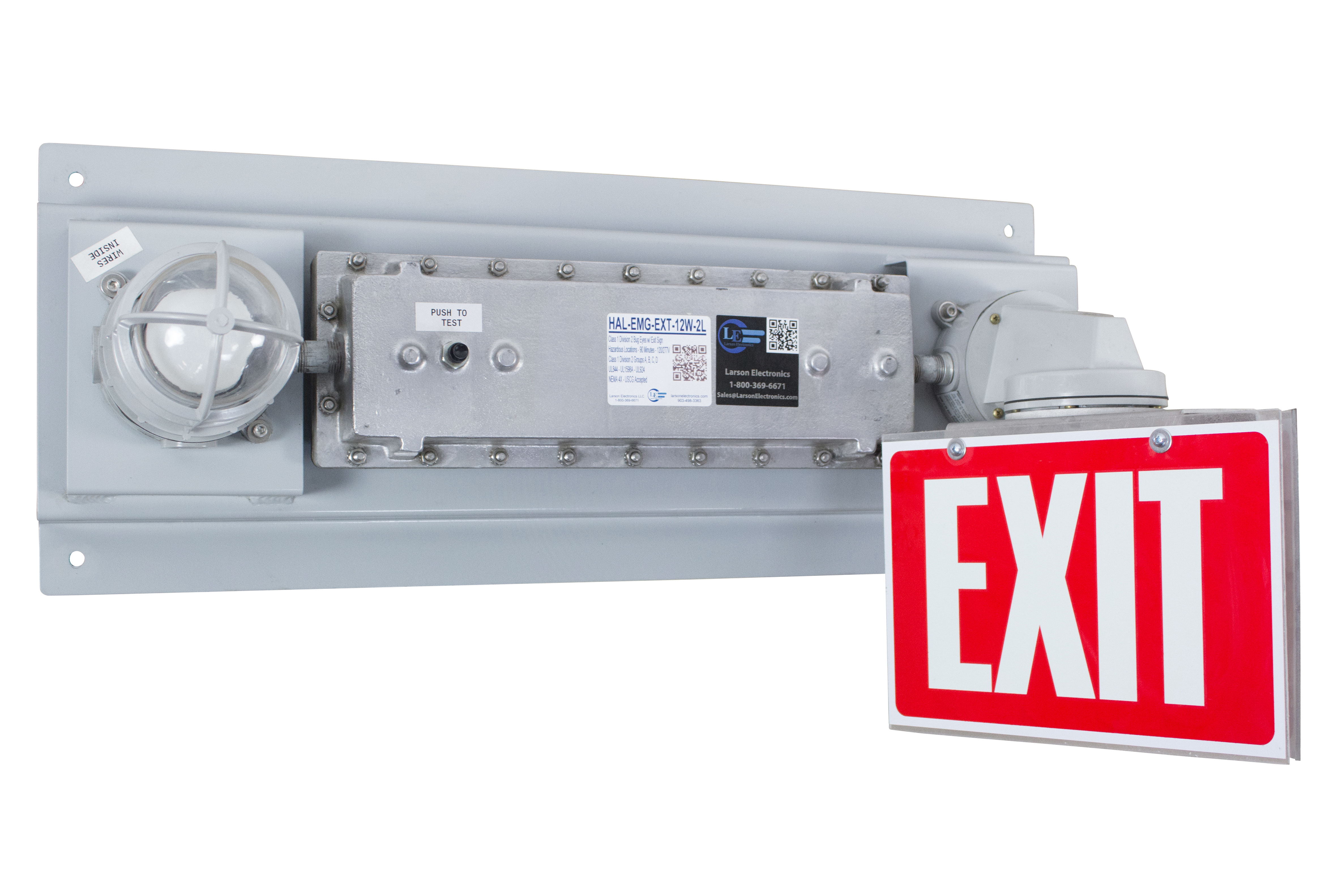 releases hazardous location emergency exit light with battery backup. Black Bedroom Furniture Sets. Home Design Ideas