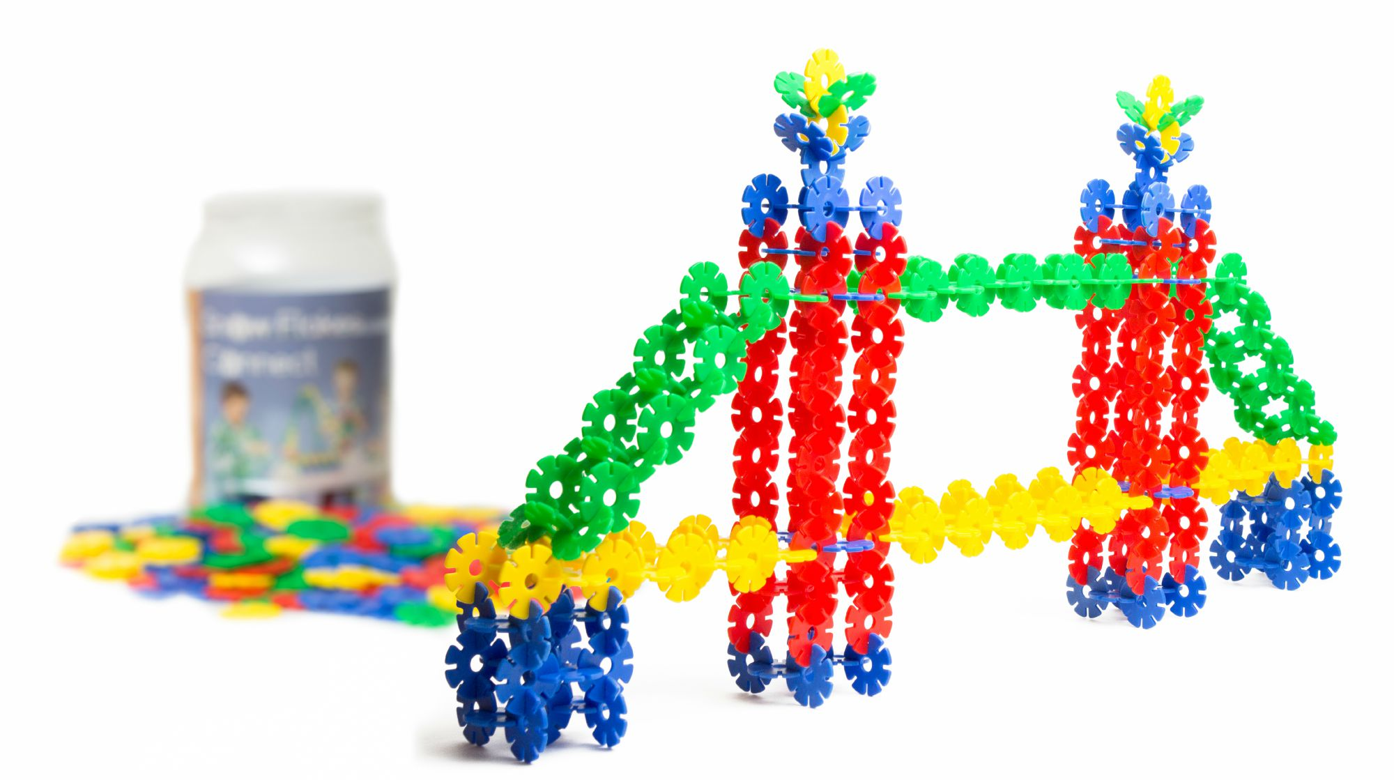 Little genius minds launches snowflakes connect on amazon all new engineering toy that Fine motor development toys