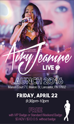 Airy Jeanine Live @ Launch Music Confrence Lancaster PA April 22, 2016
