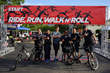LAPD Bike Patrol Officers Support Traffic Safety Event Called Finish The Ride.