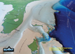 Continental shelf close-up of Summit's 3D Geophysical US Map