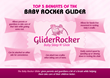 Baby Rocker Glider, a baby invention designed to rock an infant child to sleep while getting some much needed rest at the same time.