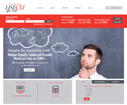 USECU Redesigned Home Page