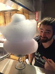 cotton candy is served at Flying Pie