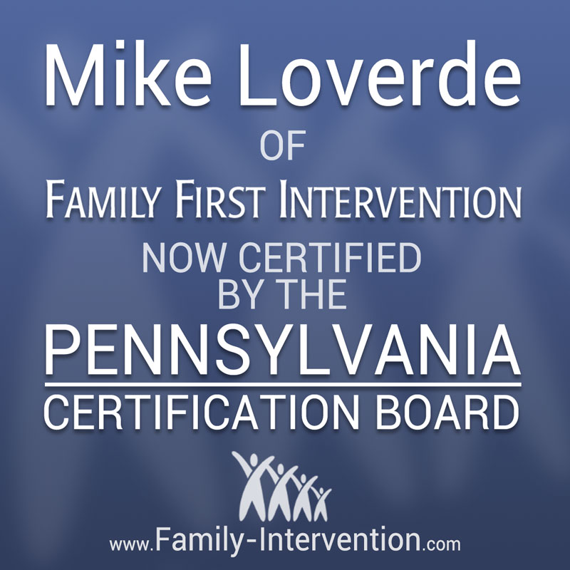 Family First Intervention Founder Earns Cip Certification To