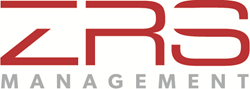 ZRS Management logo - deep red and gray