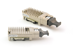 The SNAP12 is a 12 channel pluggable parallel optical transmitter or receiver module.