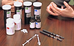 Gel capsules, tinctures, and oils for vaporization.